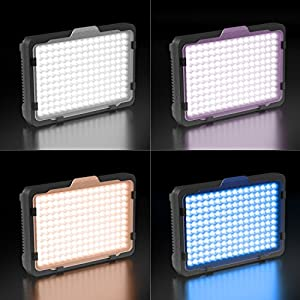 LED Video Light, ESDDI 176 LED Ultra Bright Dimmable Camera Light Panel for Canon, Nikon, Pentax, Panasonic, Sony, Samsung, Olympus and Other Digital SLR Cameras/Camcorders by ESDDI