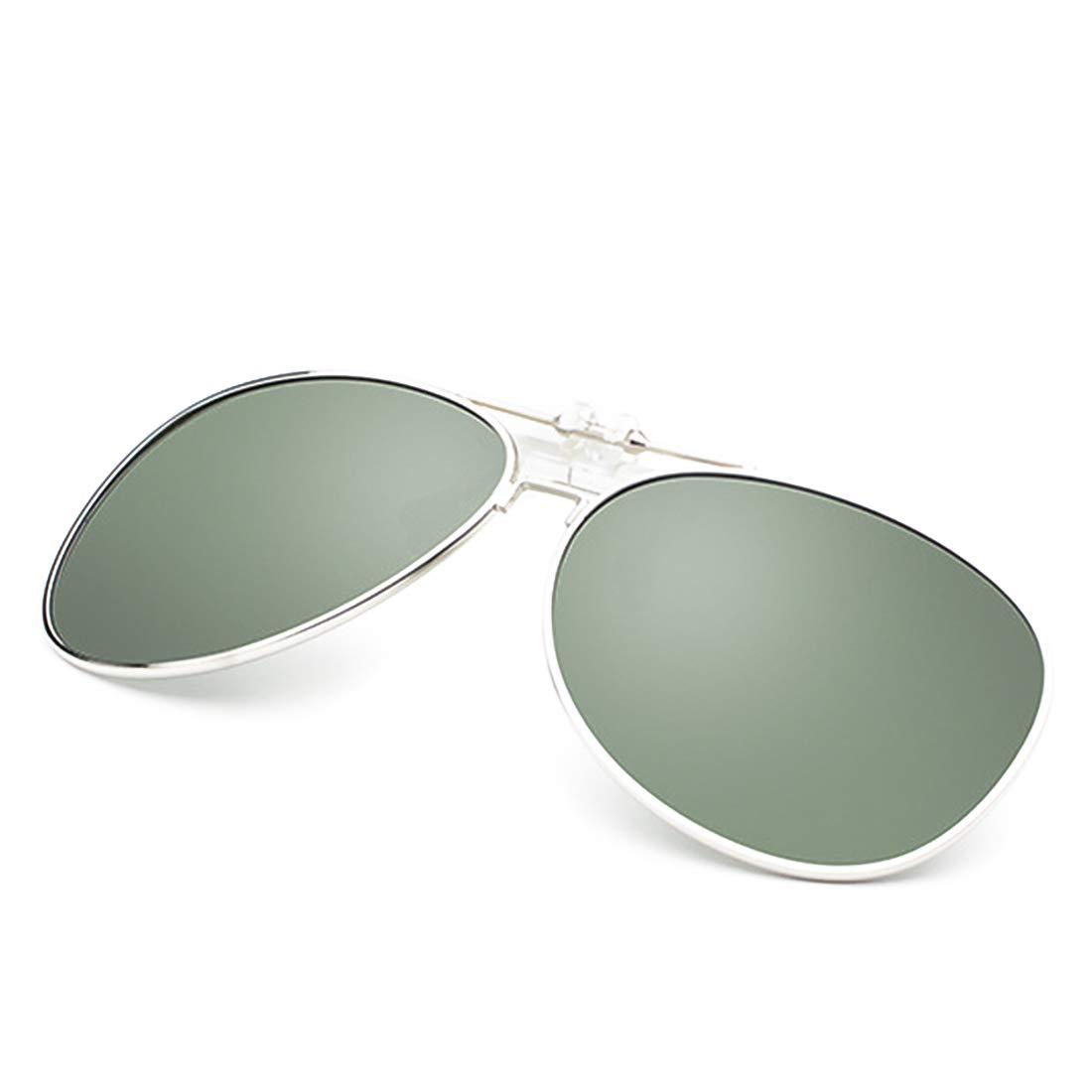 Dooppa Latest Design Unisex Clip-on Flip-up Polarized Sunglasses - Various Colors