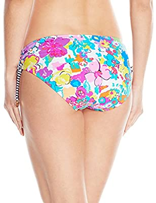 Anne Cole Women's This Bud's For You Indigo Stripe Alex Side-Tie Bikini Bottom
