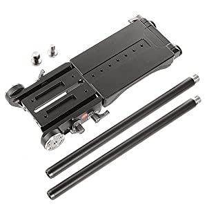 JTZ DP30 Shoulder Pad and Universal 15mm Baseplate Rail Rod Rig with Quick Release Slide Lock Clamp for Nikon Canon Sony Dslr Video Camera Camcoder etc. from JTZ