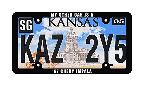 Collectable License Plate (Supernatural Metallicar Collectible Kansas License Plate Replica & License Plate Combo)