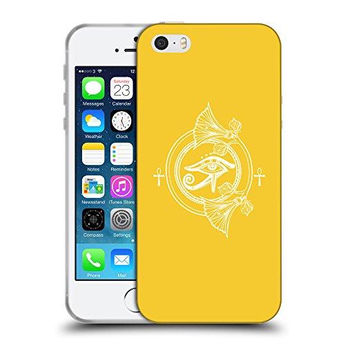 GoGoMobile Coque de Protection TPU Silicone Case pour // Q09840611 Religion 24 Banane Jaune // Apple iPhone 5 5S 5G SE