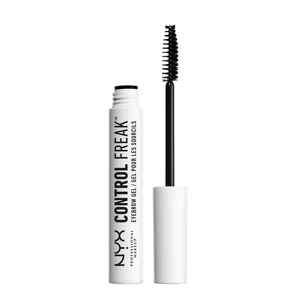 NYX Professional Makeup Control Freak Eyebrow Gel, Clear Brow Setter and Clear Mascara, Tames Brows and Sets Colour, Non-Sticky and Non-Flaking, 10 ml