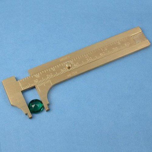 Brass Gauge Bead Ruler Measure & Convert Inches/Metric