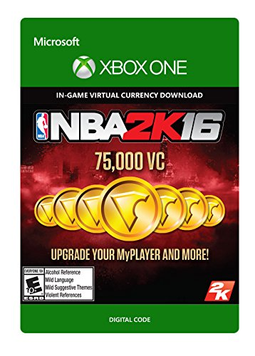 NBA 2K16 - 75,000 VC - Xbox One Digital Code