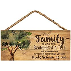 P. Graham Dunn Our Family Like Branches on a Tree 5 x 10 Wood Plank Design Hanging Sign