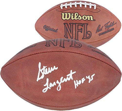 (Steve Largent Seattle Seahawks Autographed Pro Football with HOF 95 Inscription - Fanatics Authentic Certified)