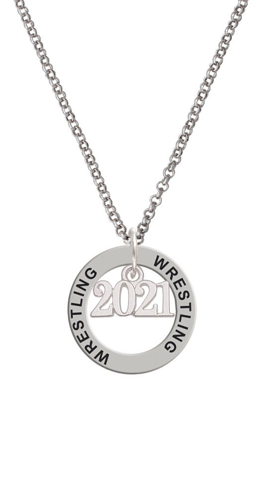 Horizontal Year 2021 - Wrestling Affirmation Ring Necklace