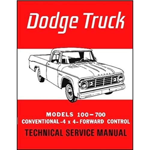 Parts Dodge Manual Factory Truck - Factory Shop - Service Manual for 1965 Dodge Truck
