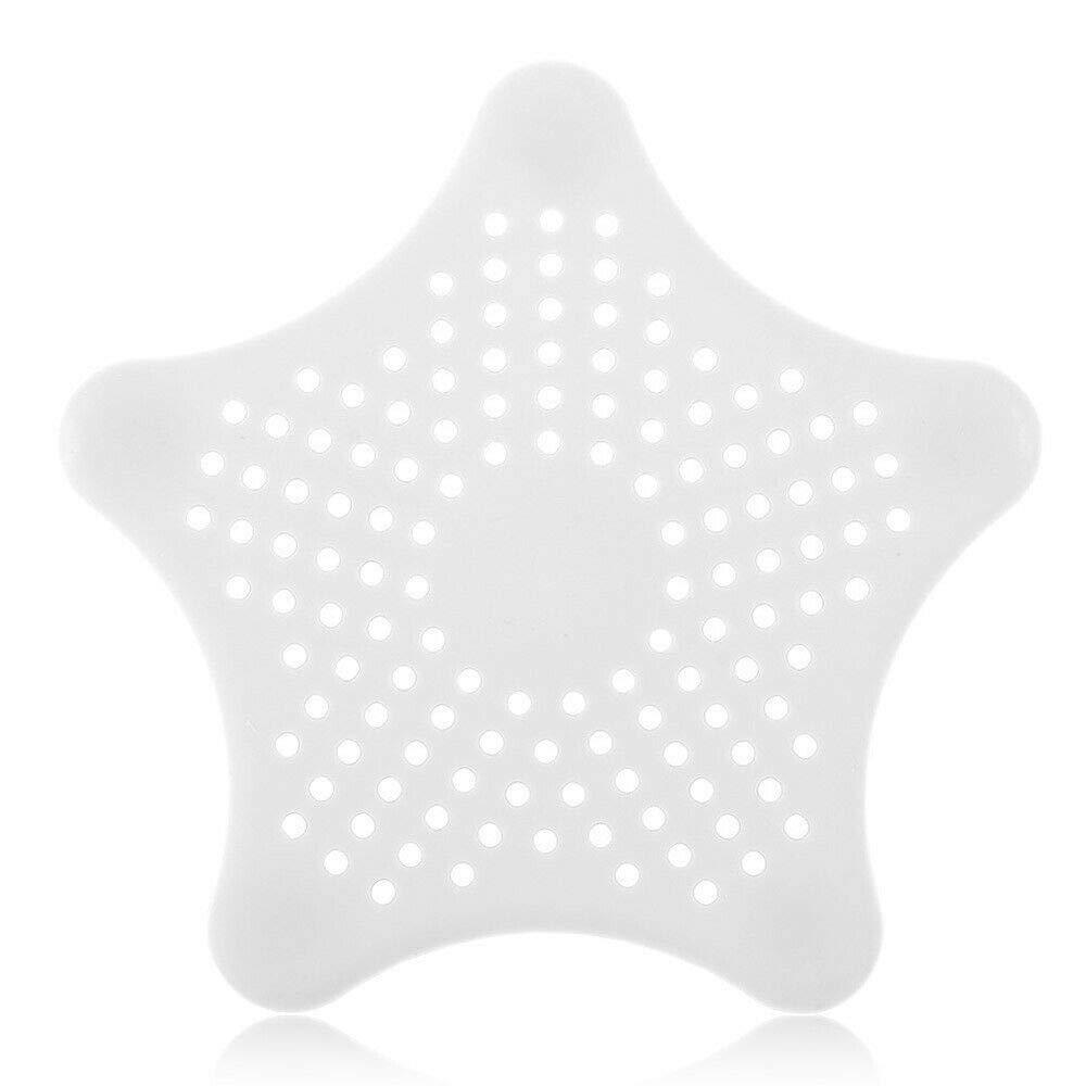 Color Blanco PSL Colador de Fregadero para Cocina y ba/ño dise/ño de Estrella de mar Goma