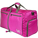 BB Medium Gym Duffle Bag with Pockets – Packable Duffel for Men and Women (Pink) Review