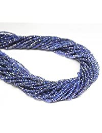 Blue Color Natural Indian Iolite Gemstone Israel Cut Faceted Rondelle Shape Beads 1 Line Loose 13 inch Strand