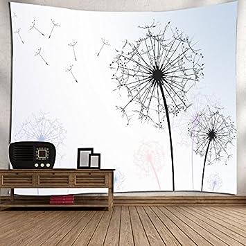 dandelion sfondo 150 Arazzi Nordic tarassaco arazzo Nordico dente di leone arazzo muro appeso panno letto tessuto decorativo tela parete appeso a parete coperta 200 cm