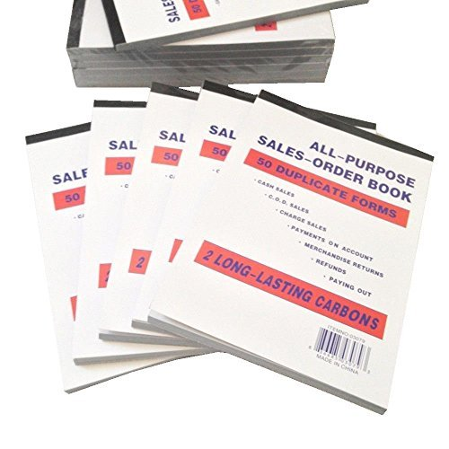 Large Sales Order Book Receipt Invoice Duplicate Carbonless Copy 50 Sets 5.5