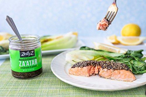 Zesty Z 2-Pack Mediterranean Za'atar (Zaatar/Zatar) Spread & Condiment, 7.5 oz (Pack of 2) by Zesty Z (Image #6)