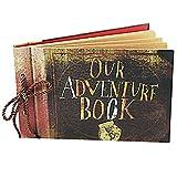 LoiZau Scrapbook, Photo Album DIY Family Handmade Self-Adhesive Albums Our Adventure Book for Store Present Anniversary Wedding Guest Book Vacation Memories