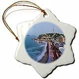 3dRose orn_86830_1 Mexico, Sinaloa, Mazatlan. Playa Olas Altas - SA13 WBI0171 - Walter Bibikow - Snowflake Ornament, Porcelain, 3-Inch
