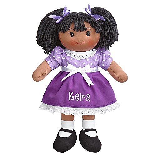 Personal Creations - Personalized Gifts Cuddle Time Rag Doll - Dark Skin Black Hair