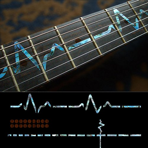 Fretboard Markers Inlay Sticker Decals for Guitar - EKG Line-AB