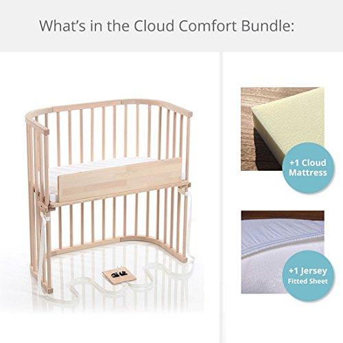 babybay Bedside Sleeper Cloud Comfort Bundle in Natural (Untreated) by babybay