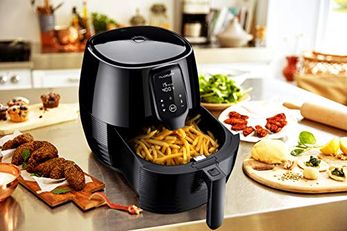 Air Fryer XL, 5.8Qt Electric Hot Airfryer Oven Oilless Cooker with Detachable Nonstick Basket, LCD Touch Screen, Timer Temperature Control, Dishwasher Safe, Auto Shut Off, W/50 Recipes, 1400W by US PIEDLE (Image #6)