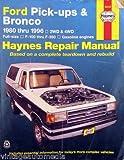 1980-1996 Haynes Repair Manual - Ford Pick-ups & Bronco SUV - #36058