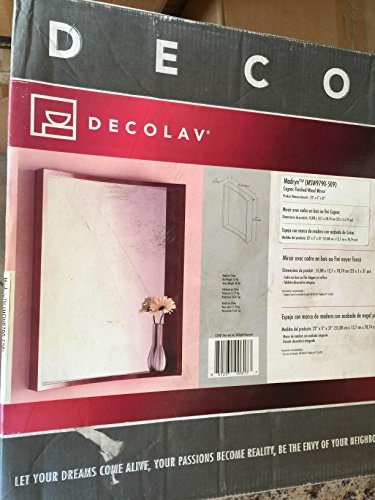 (DECOLAV 9790-CGN Madryn 22-Inch Mirror, Cognac)