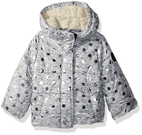 Steve Madden Baby Girls' Fashion Outerwear Jacket (More Styles Available), 8037-Grey/Silver, 24M
