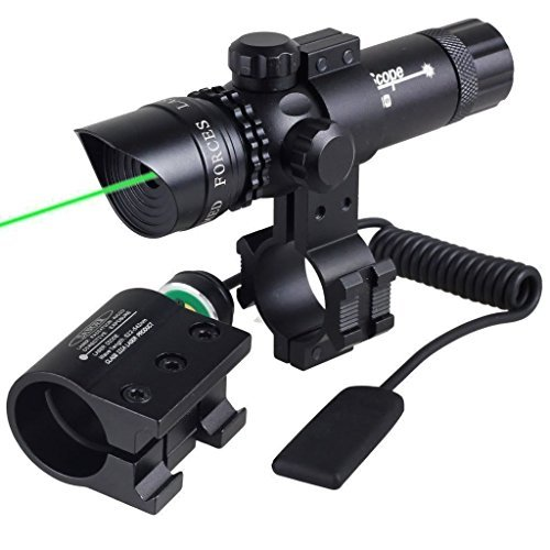 Green Sniper Rifle (WNOSH Super Power Tactical Variable Waterproof lluminated Reticle Green Sight Mil Dot Scope, Sight Dot Sighter with Mounts for Sniper Military Pistol Handgun Air Gun Rifle Include Battery Charger)