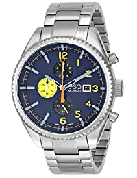 ESQ Movado Men's 07301446 Catalyst Ionic Black-Plated Steel and Bracelet Blue Chrono Dial Watch