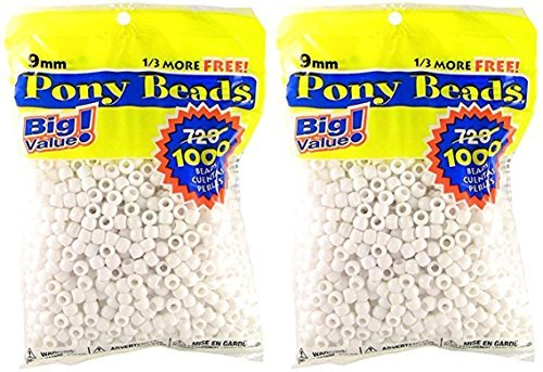 Buy white pony bead