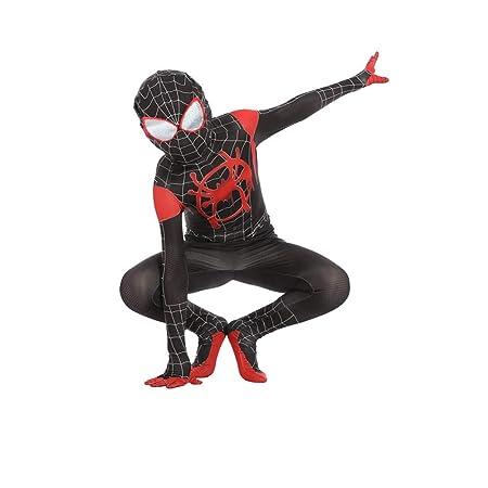 BLOIBFS Traje Negro De Spider-Man, Fancy Dress Party Jumpsuit ...