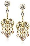 badgley mischka pearl chandelier drop earrings