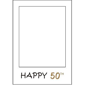 Amazoncom 1pcs Happy 50th Birthday Anniversary Paper Photo Booth