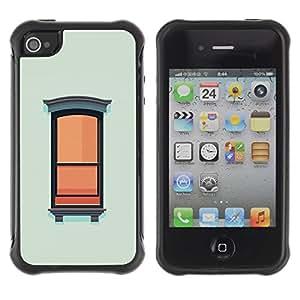 Suave TPU GEL Carcasa Funda Silicona Blando Estuche Caso de protección (para) Apple Iphone 4 / 4S / CECELL Phone case / / Window Wall Art Painting Oil Simplistic /