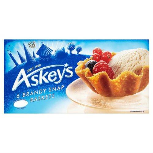 Brandy Snaps - Askeys 6 Brandy Snap Baskets 100G