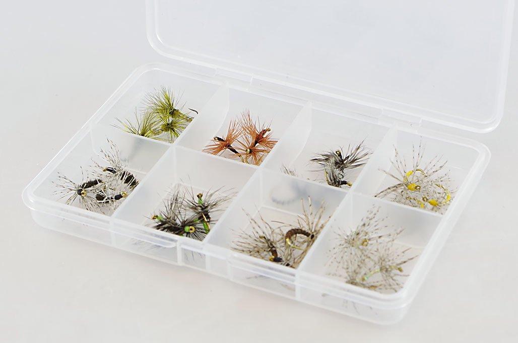 24 Tenkara Flies (Random Selection) with Fly Box by DRAGONtail Tenkara