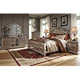Ashley Birlanny Mirrored Panel Bedroom Set - Queen, King or Cal King - 5 pc. (Queen)