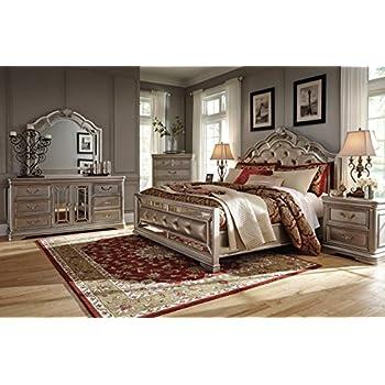 Amazon.com: Ashley Birlanny Bedroom Set (4-PC Queen Bedroom Set ...
