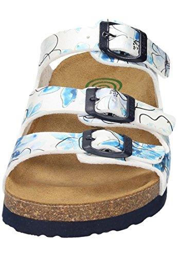 Dr. Brinkmann Womens 701153 Flor Sandals Bianco / Blu