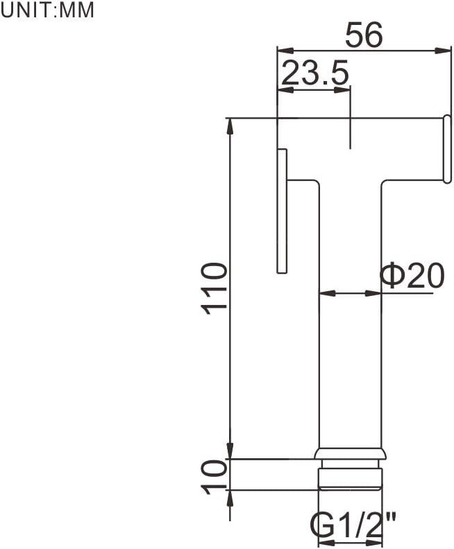 Plata Alcachofa de Ducha de El Pl/ástico para Wc Ibergrif M20281 Alcachofa de Bid/é