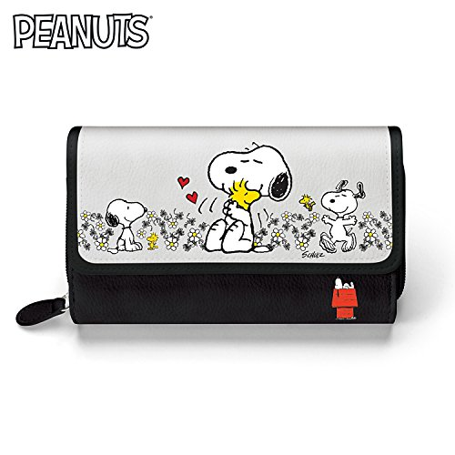 (PEANUTS Happiness Is Friendship Women's Tri-fold Wallet by The Bradford Exchange)