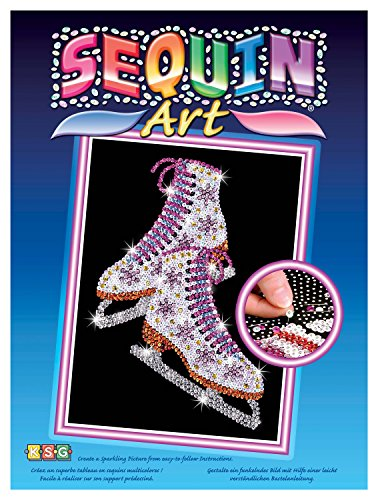 (Sequin Art Blue, Ice Skates, Sparkling Arts and Crafts Picture Kit, Creative Crafts)