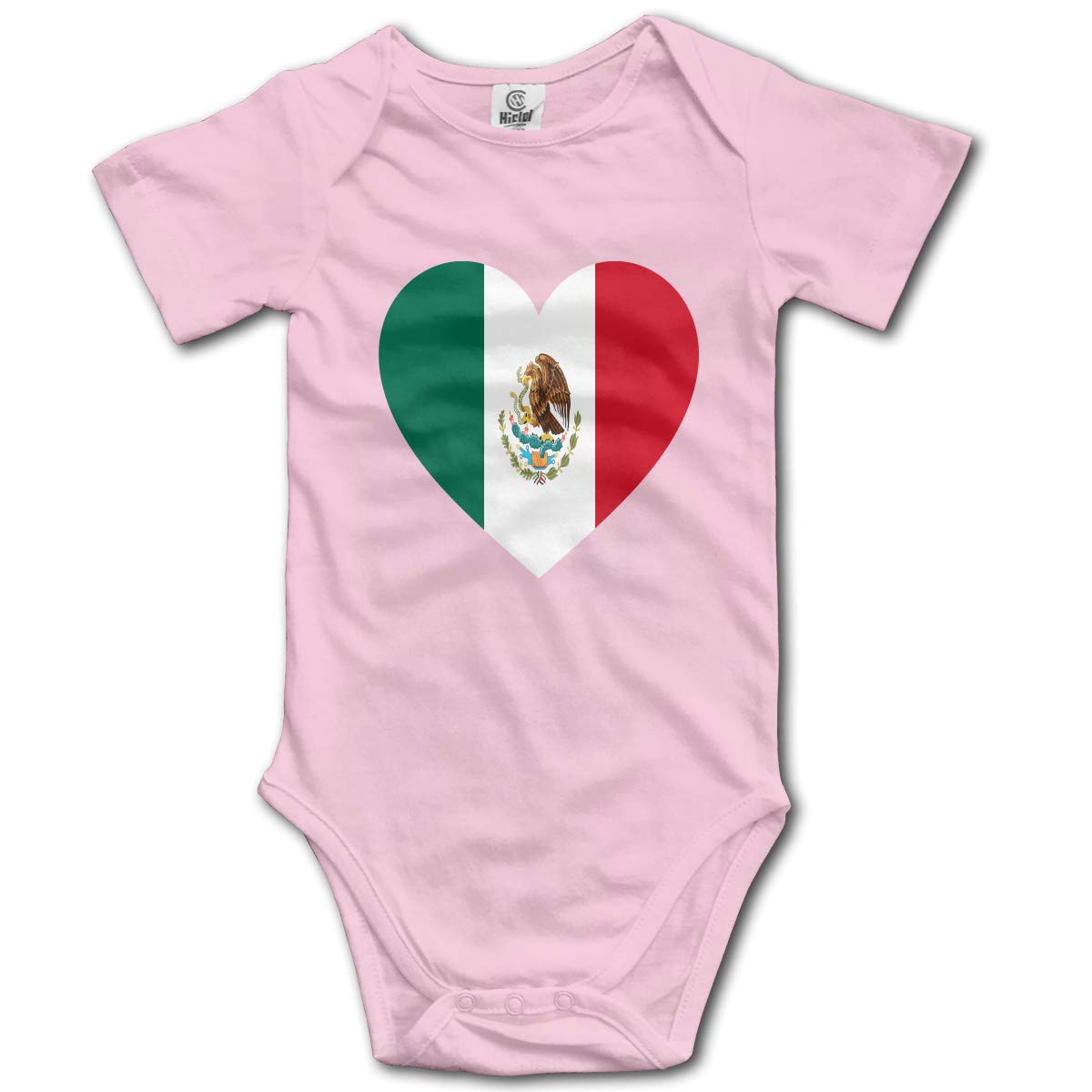 Baby Short-Sleeve Onesies Love Mexico Flag Bodysuit Baby Outfits