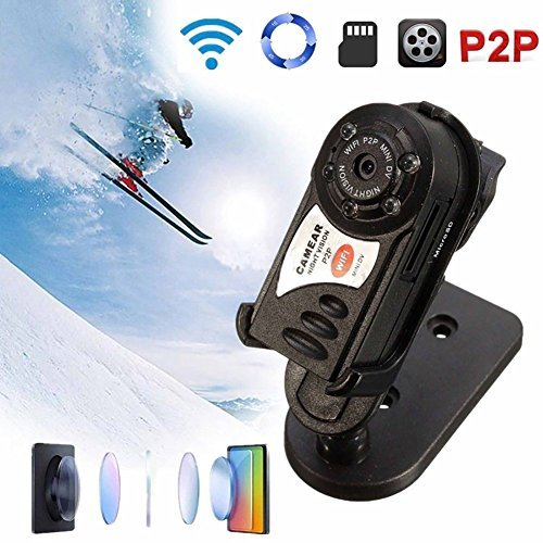 (8GB Mini WIFI Hidden Spy Camera Portable Security Video Camcorder Nanny Cam with Motion Detection)