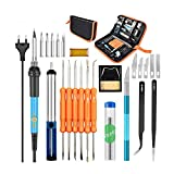 dacyflower 60W Electric Soldering Iron Kit with Adjustable Temperature Soldering Iron Welding Torch Welding Repair Kit, Soldering Iron 8-in-1 Full Set 110V