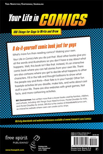 Your Life in Comics: 100 Things for Guys to Write and Draw by Free Spirit Publishing (Image #1)