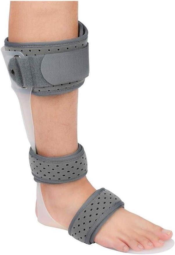 Órtesis for pie de tobillo, órtesis de estabilización de tobillo Aparato ortopédico ajustable Corrección postural del pie Corrección fija de extremidad inferior adecuada for esguince de espalda y reha