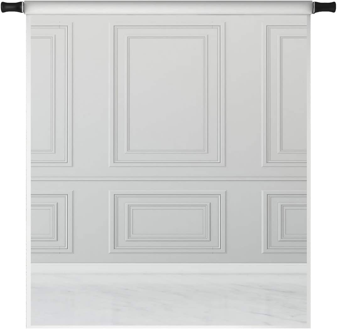 Kate 5x7ft Grey Wall Backdrops for Photography Empty Room White Floor Classic Interior Design Wedding Photo Studio Props