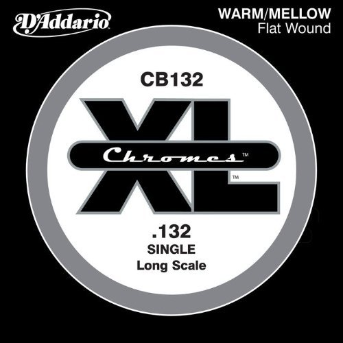 Flatwound Single - D'Addario CB132 Chromes Bass Guitar Single String, .132